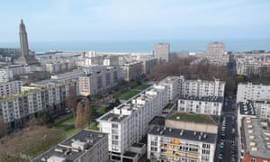 Aerial view of Le Havre, France