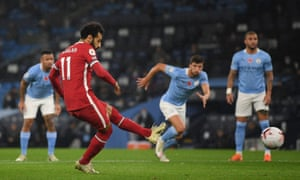 Salah scores from the penalty spot