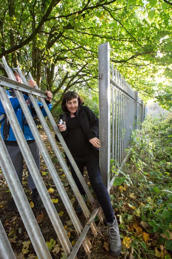 """Spiked metal fencing was installed around Freeman's Wood between November 2011 and January 2012, together with """"Warning - Keep Out"""" signs."""