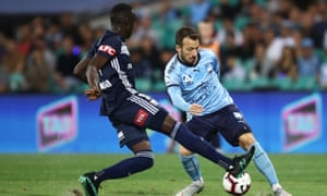 Sydney FC playing against Melbourne Victory