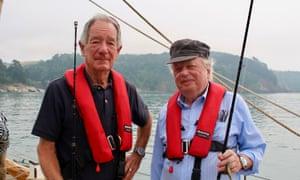 Enjoying the good life … Michael Buerk and John Sergeant.