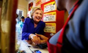 Hillary Clinton in California