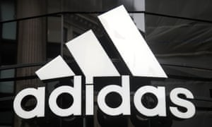 Adidas logo on window