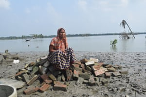 Salma Begum, 35, lost her house to Cyclone Amphan and is now living with relatives.
