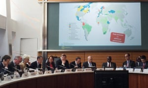 UN Secretary General and Côte d'Ivoire Prime Minister join senior diplomats, business leaders and NGO leaders during first governing Assembly of the Carbon Pricing Leadership Coalition.