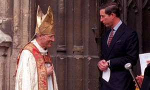 Peter Ball pictured with Prince Charles, whom he has described in the past as 'a loyal friend'.