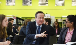David Cameron at the Harris academy in London.