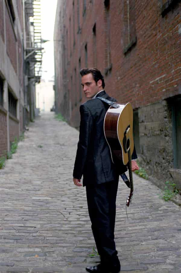Joaquin Phoenix as Johnny Cash in Walk The Line.