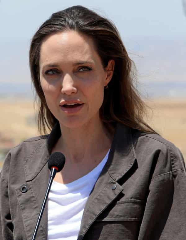The actress Angelina Jolie