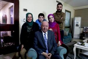 Hunain al-Qaddo and family