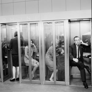 Airport payphones, Chicago, 1966Carnicelli was as fascinated by the country's diversity, individuality and pursuit of happiness …