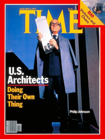 Philip Johnson, 'a dapper Moses', on the cover of Time magazine, January 1979