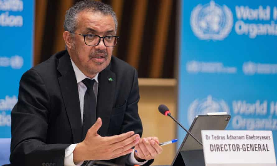 WHO director general Tedros Adhanom Ghebreyesus said Monday that the number of new cases had declined for a fifth consecutive week, dropping by almost half, from more than five million cases in the week of 4 January.