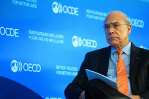 General Secretary of OECD (Organization for Economic Co-operation and Development) Jose Angel Gurria.