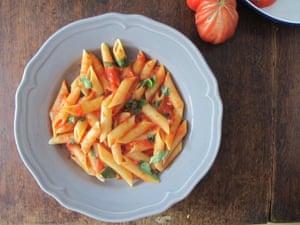 The Geometry of Pasta's all'arrabbiata.