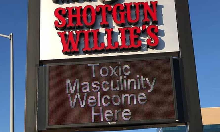 A detail of the sign at Shotgun Willie's, as Instagrammed by Bonnie AD, a Denver activist.