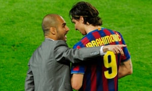 Pep Guardiola and Zlatan Ibrahimovic