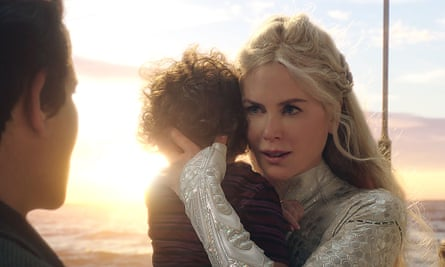 She, at least, is plausible … Nicole Kidman as Atlanna in Aquaman.