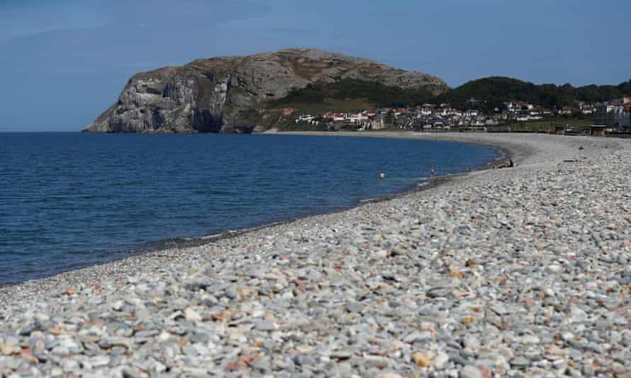 The beach at Llandudno, Wales, on 27 May.