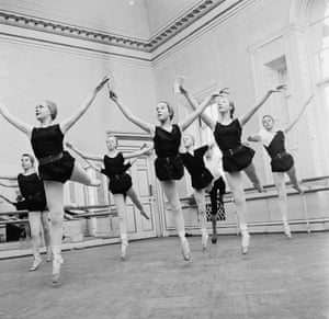 Pupils using Benesh Movement Notation (BMN) in a class at the Royal Ballet junior school, White Lodge, Richmond, 1963