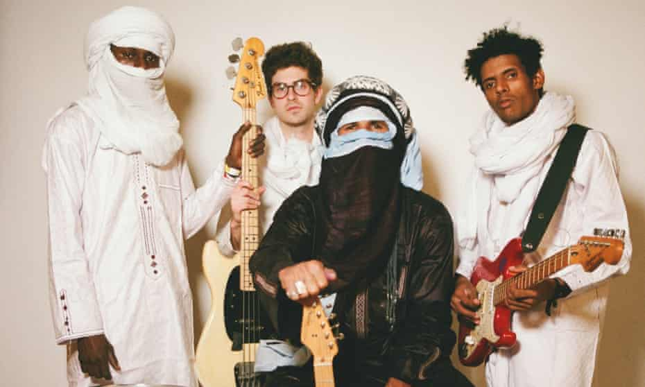 Mdou Moctar with his band