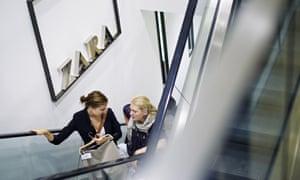 Customers inside a Zara shop on Oxford Street, London.
