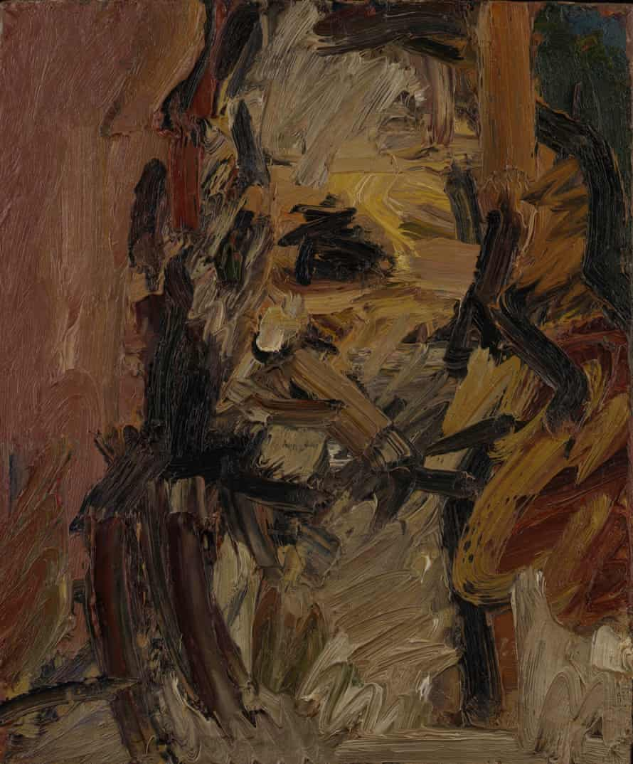 Head Of Jake, a painting by Frank Auerbach, 1997
