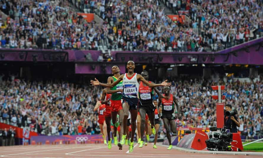Malcolm Arnold said UK Athletics has failed to help athletes reach their potential since 2012 which saw Olympics golds for Mo Farah (pictured), Jessica Ennis-Hill and Greg Rutherford.