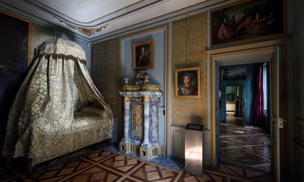 Presiednt Macron visited the newly restored Chateau, formerly owned by Voltaire.