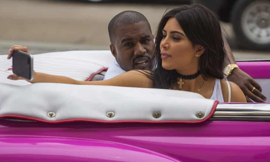 Selfie queen Kim Kardashian with power brows.