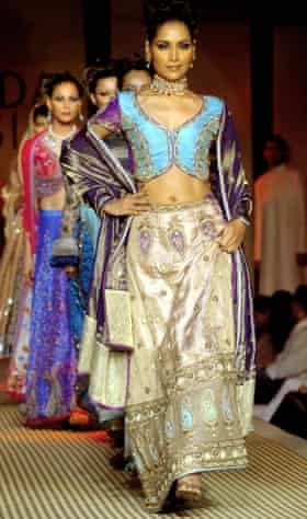 Satya Paul designs at the Bridal Asia show in New Delhi, 2004.