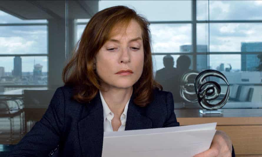 Isabelle Huppert in Happy End.
