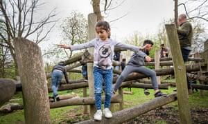 Children at Highfields adventure playground.