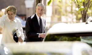 Robert Mueller and his wife Ann Cabell Standishleave Easter services in Washington, in April.