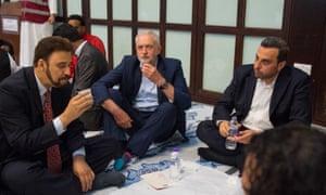 Labour leader Jeremy Corbyn at al-Manaar Muslim Cultural Heritage Centre