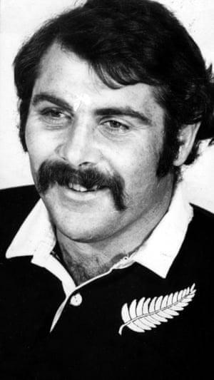 Keith Murdoch wearing his All Black jersey in 1972.