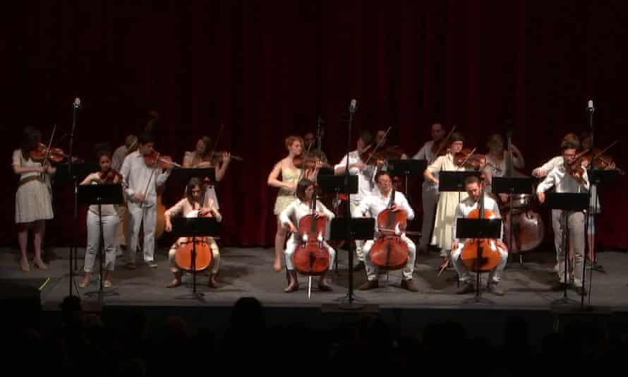 String Orchestra of Brooklyn play Tony Conrad's Empire for Strings.
