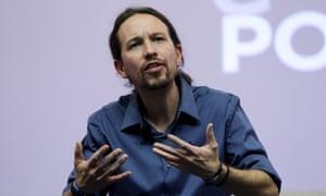 Pablo Iglesias, the Podemos leader