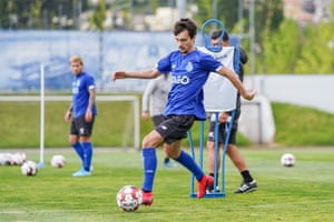 Porto players in training last month.