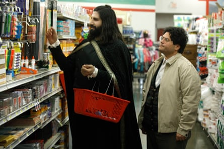 Kayvan Novak and Harvey Guillen in What We Do in the Shadows