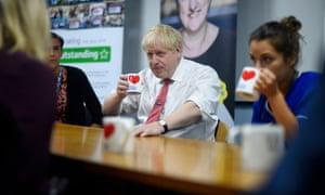 Boris Johnson at recent visit to Watford general hospital