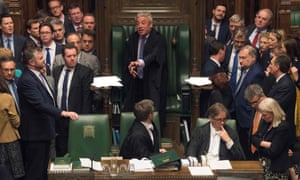 John Bercow speaking during a debate on the second reading of the EU withdrawal bill in the House of Commons