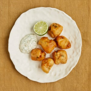 Nathan Outlaw's monkfish fritters with jalapeño mayo