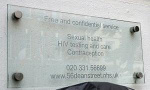 Entrance to 56 Dean Street clinic in Soho
