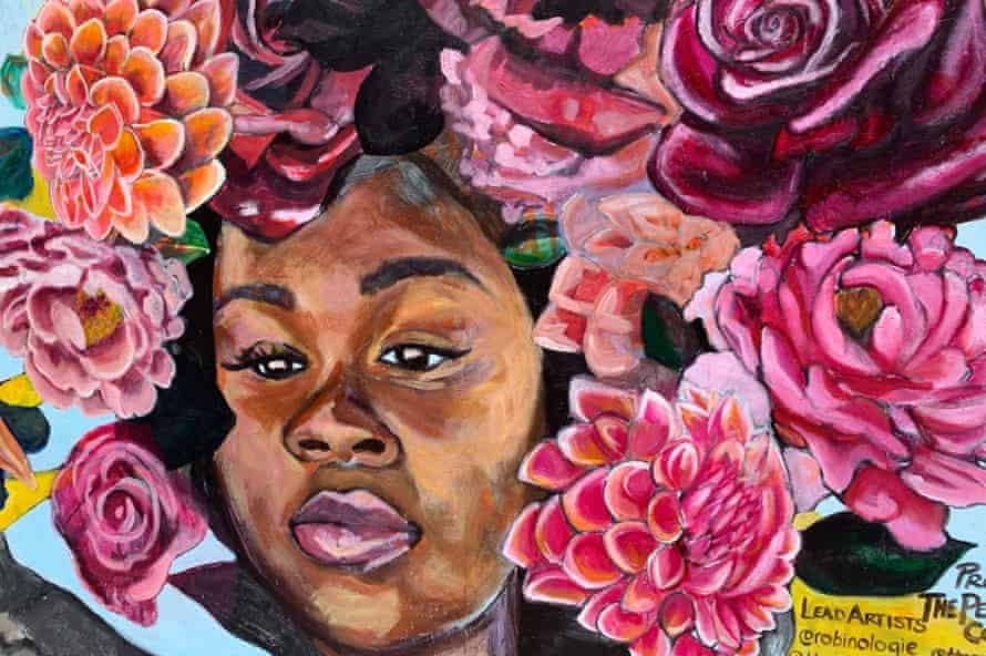 A mural of Breonna Taylor in Oakland.