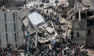 The collapse of the Rana Plaza building in April 2013