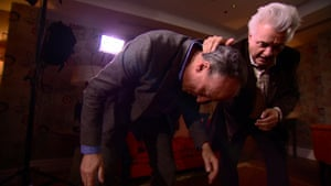 'Your stance is too low' … Stephen Smith gets a wrestling lesson from John Irving
