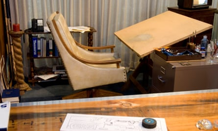 Schulz's desk at the museum, Santa Rosa.