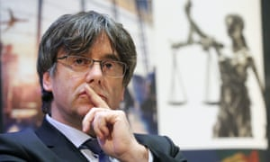 The former Catalan president Carles Puigdemont