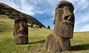 Moai statues at Rano Raraku, Easter Island. President Michelle Bachelet will grant joint administration over the national park containing the statues later this month.